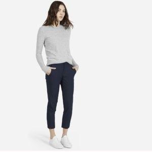 EVERLANE Slim Wool Trouser Pants Navy Blue {EE16}